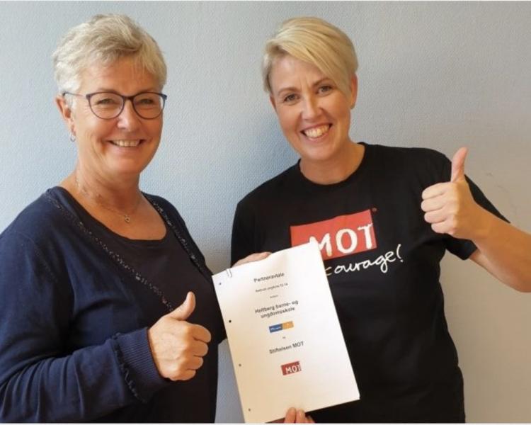 Bilde for Heltberg barne- og ungdomsskole blir en MOT-skole